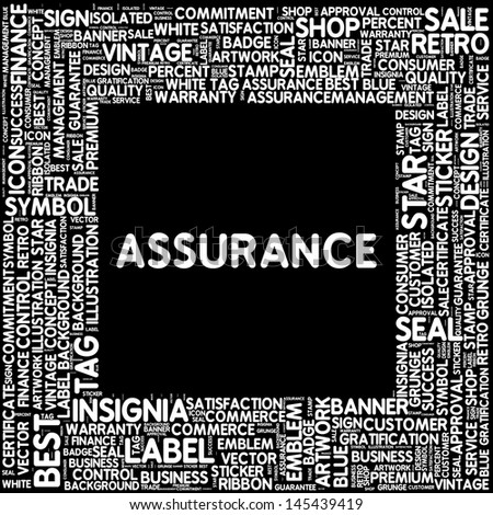Typography in black and white - assurance