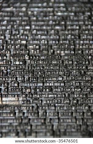 Typography, job-press - stock photo