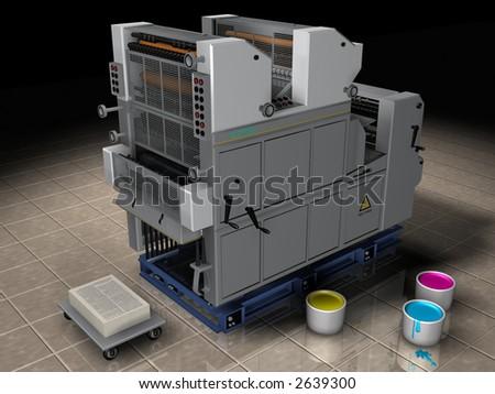 Typography printer - stock photo