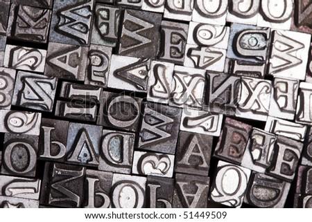 Typography style - stock photo