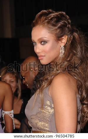 TYRA BANKS at the 37th Annual NAACP Image Awards at the Shrine Auditorium, Los Angeles. February 25, 2006  Los Angeles, CA  2006 Paul Smith / Featureflash