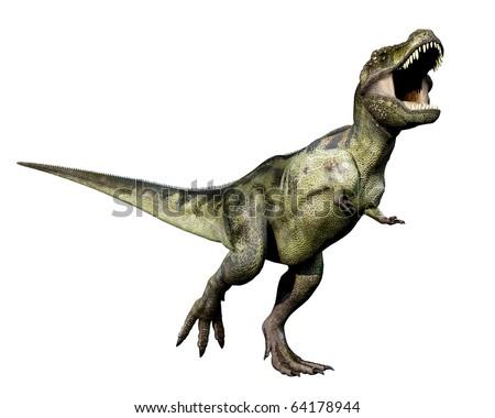 Tyrannosaurus green the king - stock photo