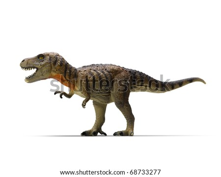 tyrannosaurus-rex (clipping path) on white background