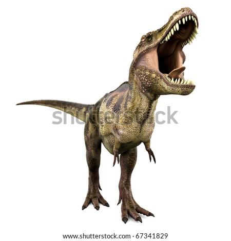 tyrannosaurus the big green one - stock photo
