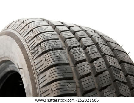 Tyre closeup - stock photo