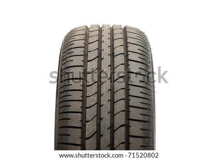 Tyre isolated on white - stock photo