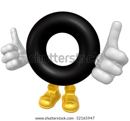 Tyre mascot figure - stock photo