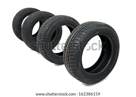 Tyre Set - stock photo