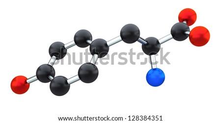 tyrosine - stock photo