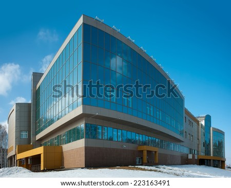 Tyumen, Russia - March 17, 2012: radiological center for oncological patients - stock photo