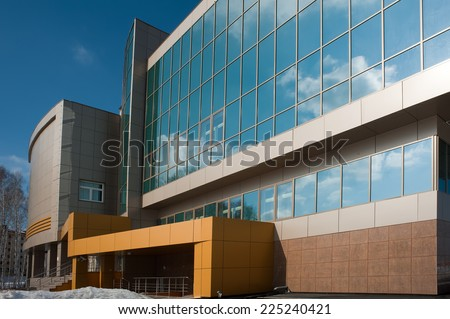 Tyumen, Russia - March 18, 2012: radiological center for oncological patients - stock photo