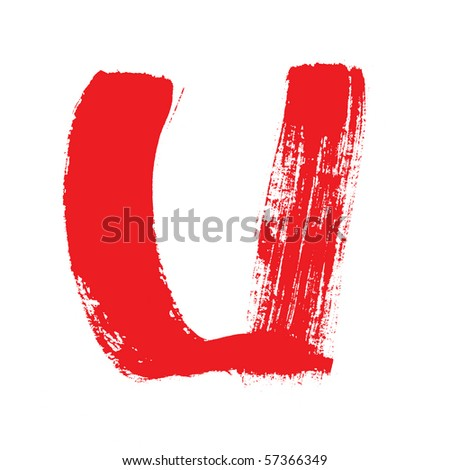 U - Colorful alphabet  isolated over the white background