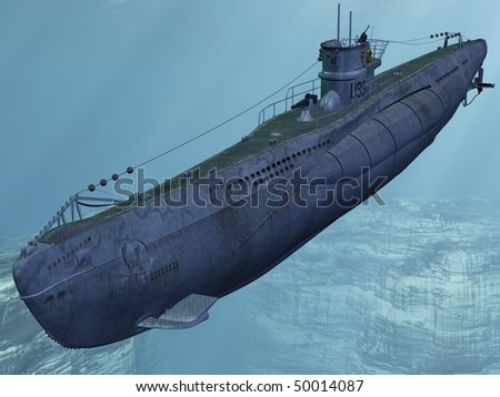 U99-German Submarine from the Worldwar II - stock photo