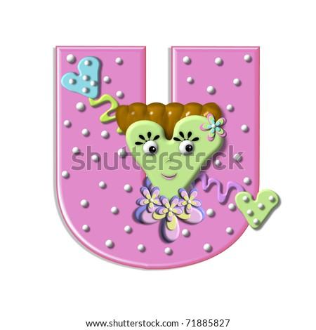 U Alphabet In Heart u in the alphabet set   heart