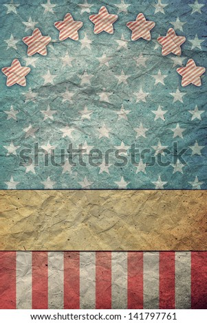 U S A  Flag for July 4th, Labor Day - stock photo