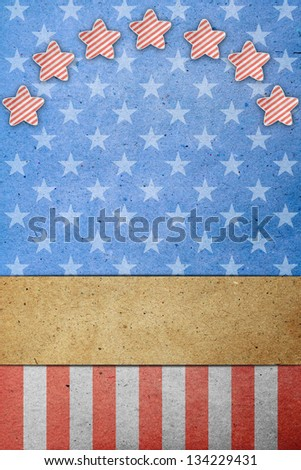 U.S.A. Flag on July 4th, Labor Day.