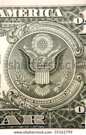 U.S. banknote detail - stock photo