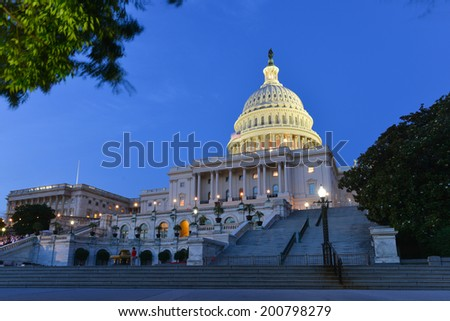 U.S. Capitol at night - Washington D.C. United States