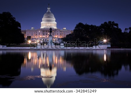 U.S. Capitol Building, Washington, DC USA - stock photo