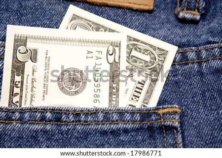 U.S. cash in pocket
