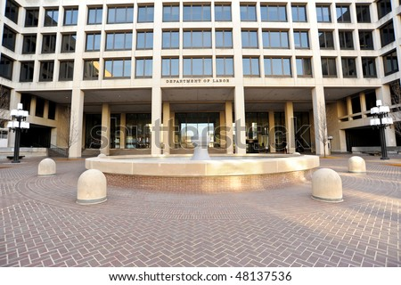 U.S. Department of Labor Headquarters - stock photo