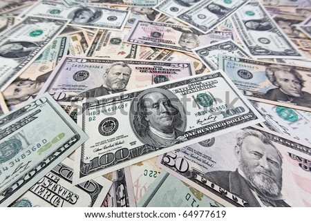 U.S. dollars banknotes of the United States of America.