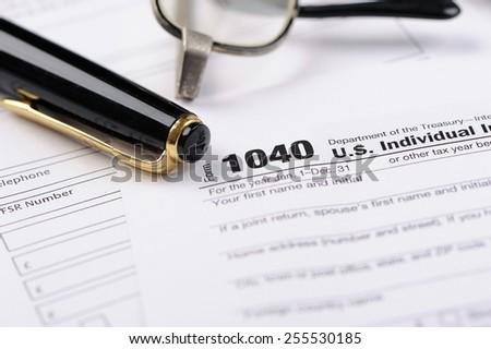 U.S. Individual Income Tax Return - stock photo