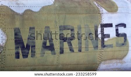 U.S. Marines airplane - stock photo