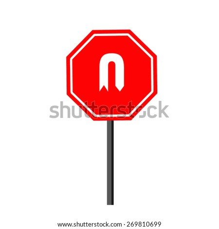 U Turn Sign - stock photo