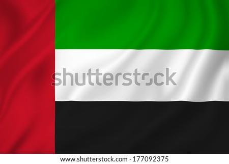 UAE flag background - stock photo