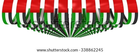 UAE FLAG | Banners Style 3 - stock photo