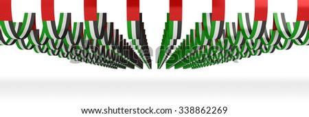 UAE FLAG | Banners Style 2 - stock photo