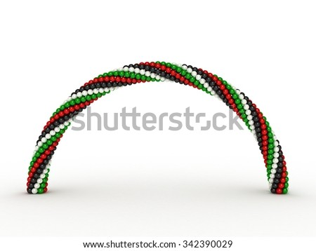 UAE Flag Color  | Arch - stock photo