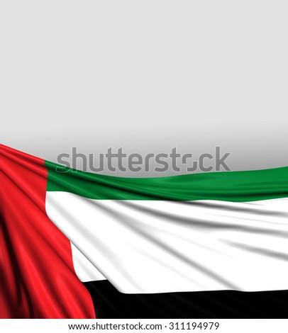 UAE Flag, United Arab Emirates Background - stock photo