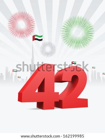 UAE NATIONAL DAY - stock photo