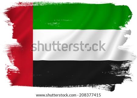 UAE United Arab Emirates flag. - stock photo