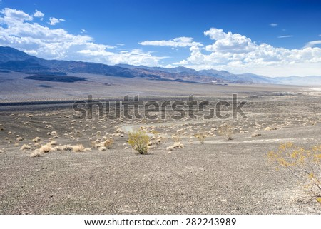 Ubehebe Crater in Death Valley National Park, California. Horizontal Image - stock photo