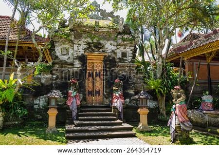 Ubud palace, Bali - Inside the Ubud palace, Bali, Indonesia - stock photo