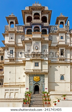 Udaipur city palace, India. - stock photo