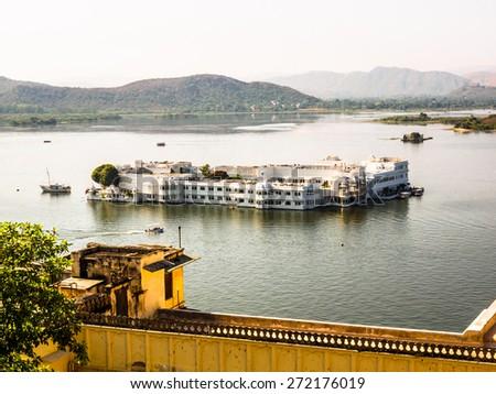 Udaipur Lake Palace in Rajasthan, India - stock photo
