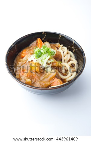 Udon Curry, Thick Wheat Noodles in Japanese Curry