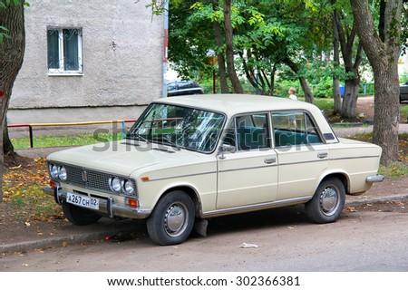 UFA, RUSSIA - SEPTEMBER 6, 2011: Motor car Lada 2103 Zhiguli at the city street. - stock photo