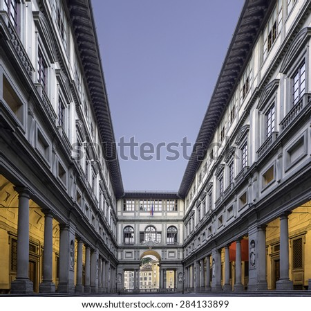 Uffizi Gallery in Florence Italy - stock photo