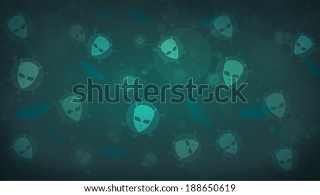 UFO. Aliens. Space background. - stock photo