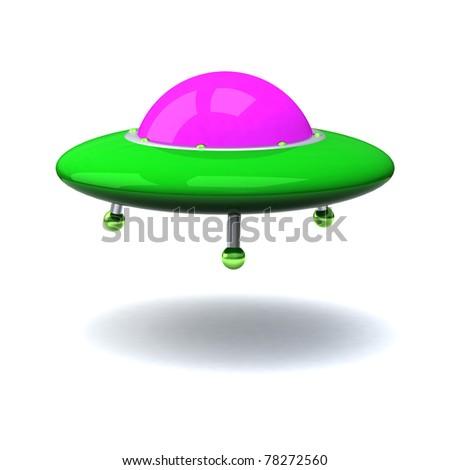 ufo 3d - stock photo