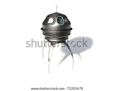 ufo isolated on white background - stock photo