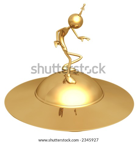 UFO Surfing - stock photo