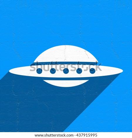 UFO symbol - stock photo