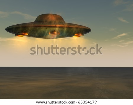 UFO - Unidentified Flying Object - stock photo