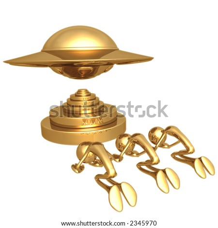 UFO Worship - stock photo